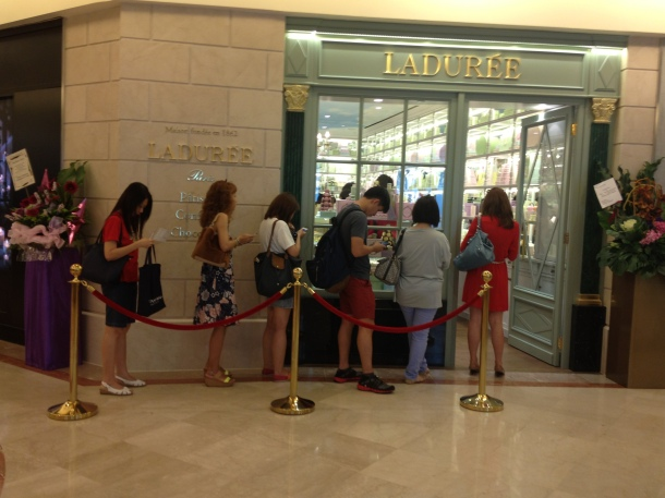 Laduree launch in Singapore macaroons